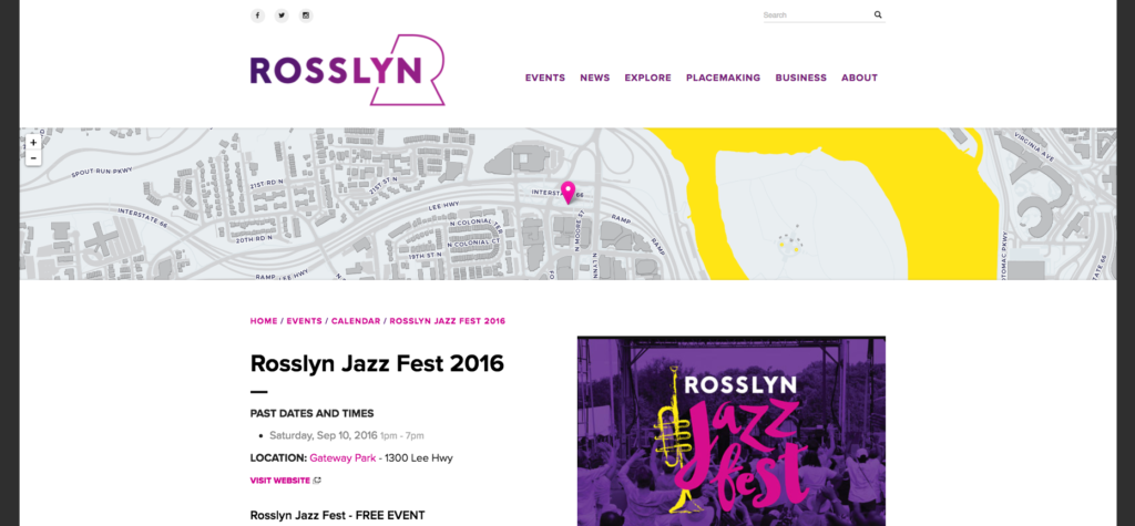 Rosslyn Jazz Fest design