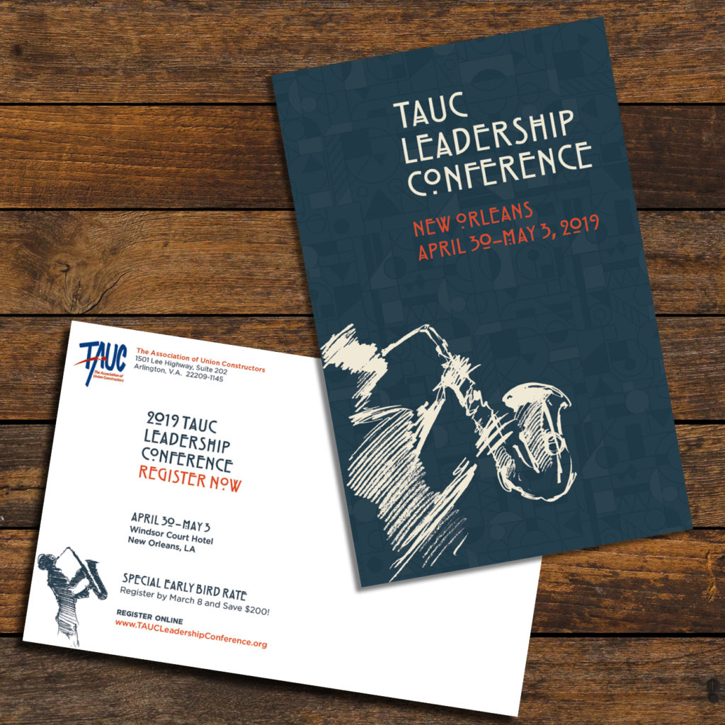 TAUC Leadership Conference postcard design