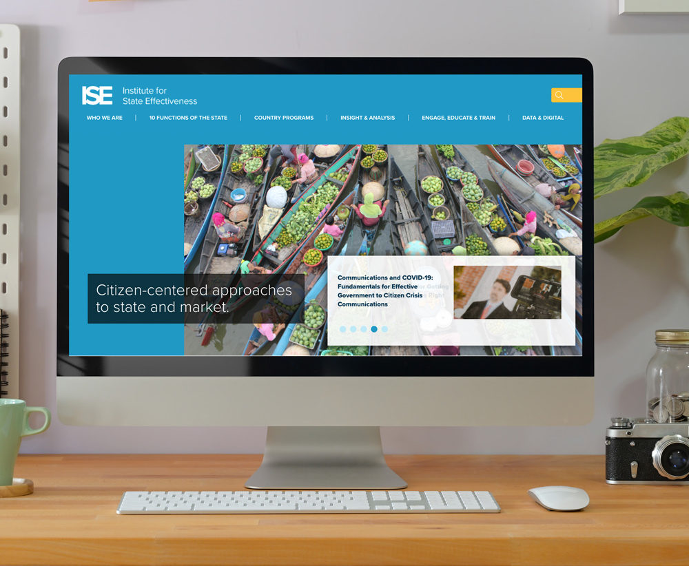 Institute for Effective States Website Redesign Portfolio